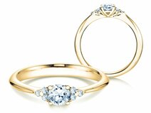 Bague de fiançailles Glory en 18 ct or jaune avec diamants 0.43 ct