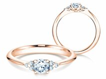 Bague de fiançailles Glory en 14 ct or rose avec diamants 0.43 ct
