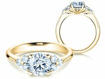 Bague de fiançailles Glory en 18 ct or jaune avec diamants 1.80 ct
