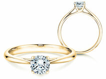 Bague solitaire Delight en 14 ct or jaune avec diamant 0.50 ct G/SI
