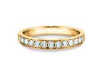 Bague de fiançailles Alliance-/Eternityring dans 14K or jaune avec diamants 0,39ct