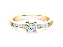 Bague Chloe or jaune 18 ct avec diamant 0,84ct