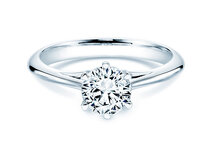 Bague solitaire Heaven 6 en 18 ct or blanc avec diamant 1.00 ct G/SI